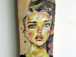 EVOL – Hand Painted Skate Deck – 5