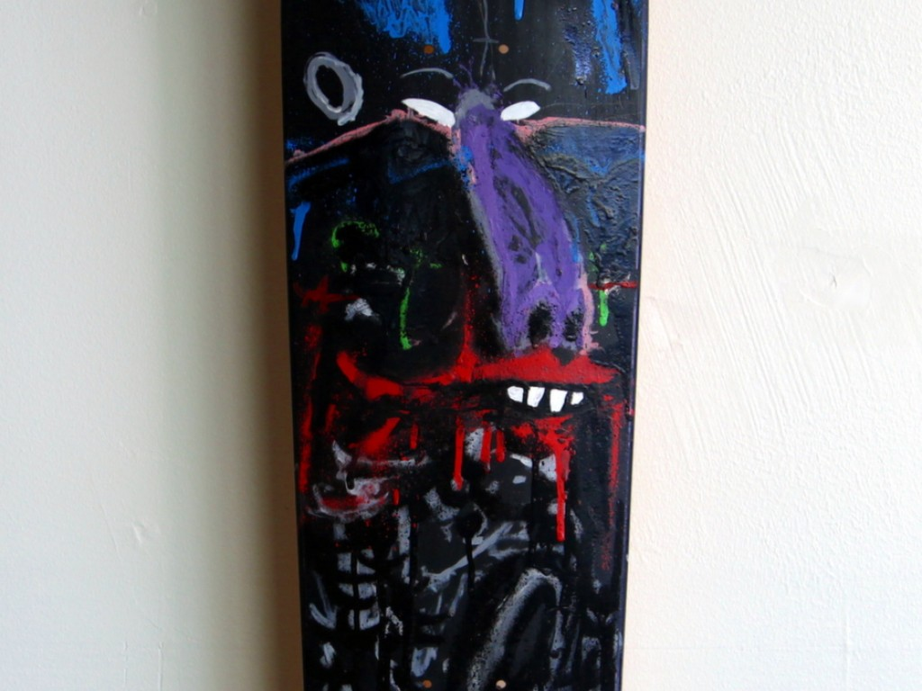 Satter Ugly – Hand Painted Skate Deck – 13