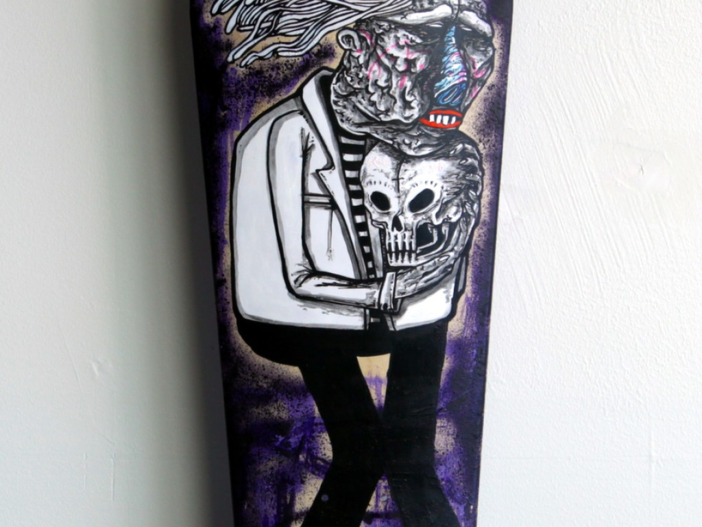 Satter Ugly – Hand Painted Skate Deck – 11