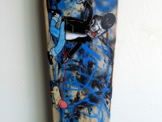 Satter Ugly – Hand Painted Skate Deck – 10