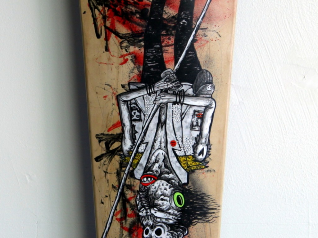 Satter Ugly – Hand Painted Skate Deck – 9