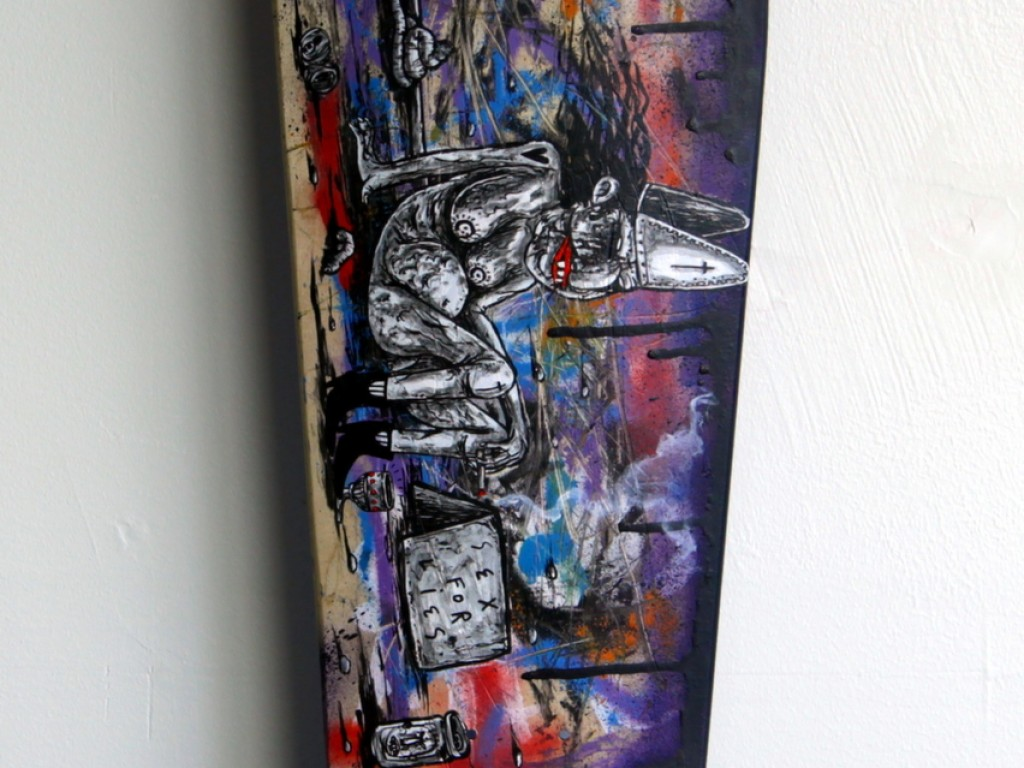 Satter Ugly – Hand Painted Skate Deck – 8