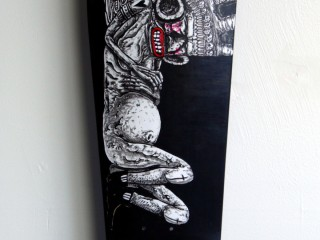 Satter Ugly – Hand Painted Skate Deck – 6