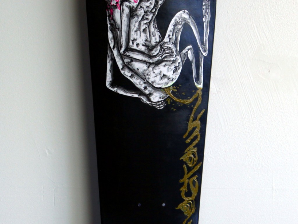 Satter Ugly – Hand Painted Skate Deck – 7