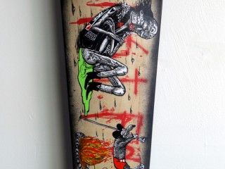 Satter Ugly – Hand Painted Skate Deck – 3