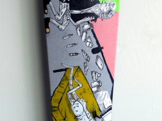Satter Ugly – Hand Painted Skate Deck – 2