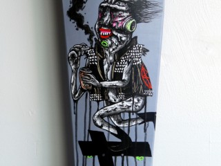 Satter Ugly – Hand Painted Skate Deck – 1